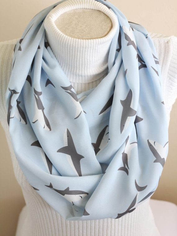 Animal Scarf, Shark Infinity Scarf