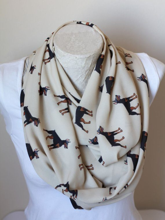 Doberman Pinscher Scarf, Dog Mom Gifts