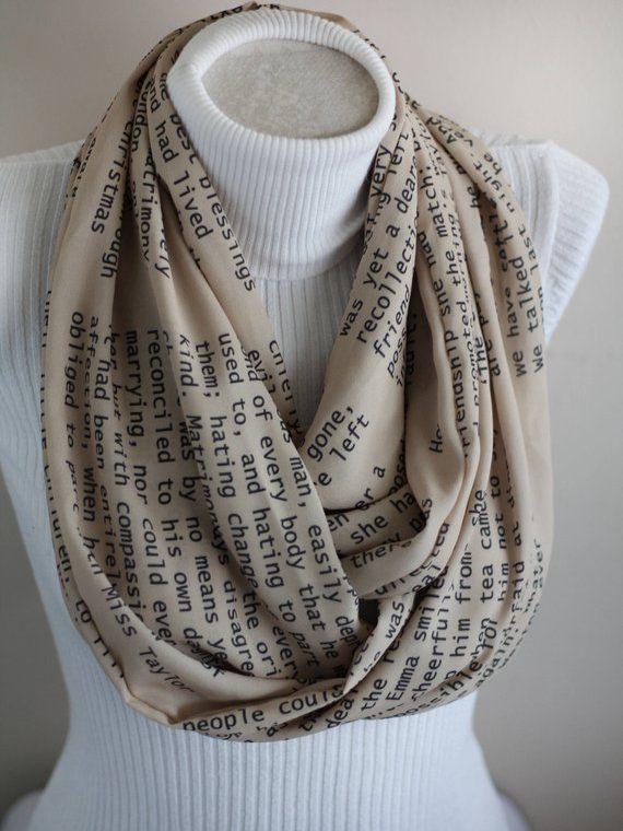 Jane Austen Scarf, Emma Book