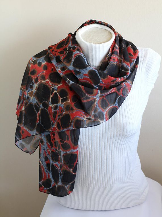 Marble Scarf Marble Print Shawl Mother Birthday Gift Ideas for Women Spring Summer Fashion Accessories