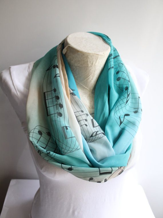 Music Scarf, Musician Gift
