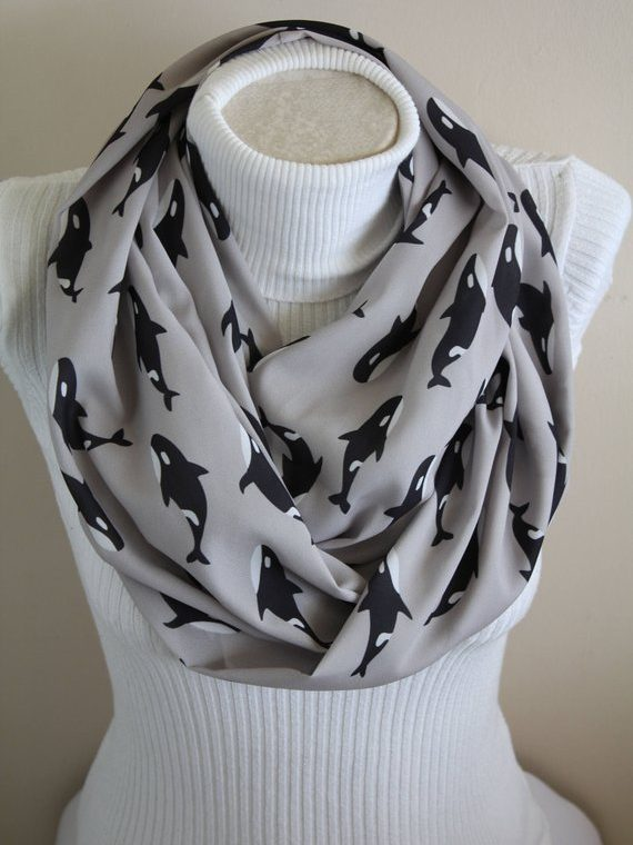 Orca Whale Gift, Killer Whale Scarf