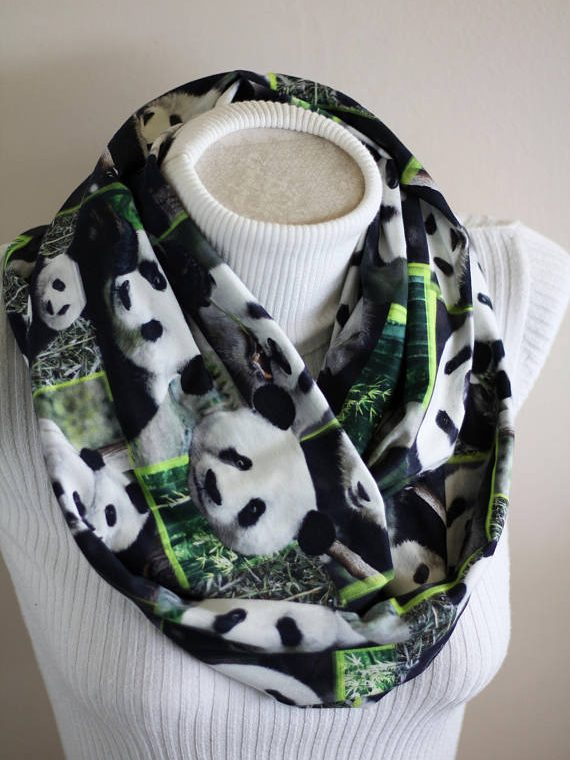 Panda Bear Scarf, Panda Gifts
