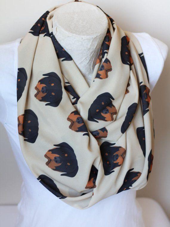 Rottweiler Scarf, Dog Lover Gift