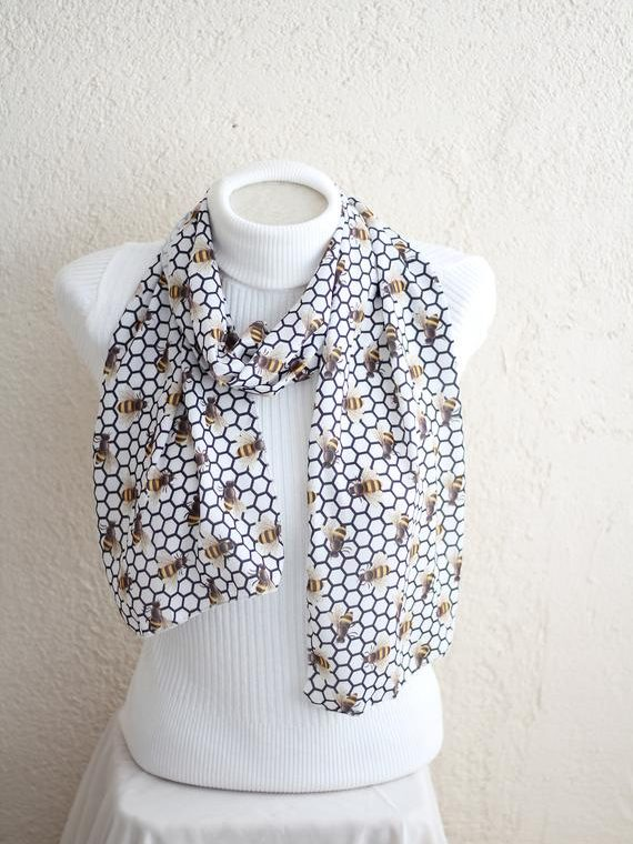 Bumble Bee Scarf Gift for Sister Bee Lovers Accessories Honey Bee Gifts Bee Party Honey Lover Gift Ideas