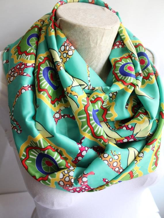 Floral Scarf Mom Gift Infinity Scarf Mother's Day Mom Scarf Women Accessories Fall Fashion Gift Ideas Sister Birthday Gift