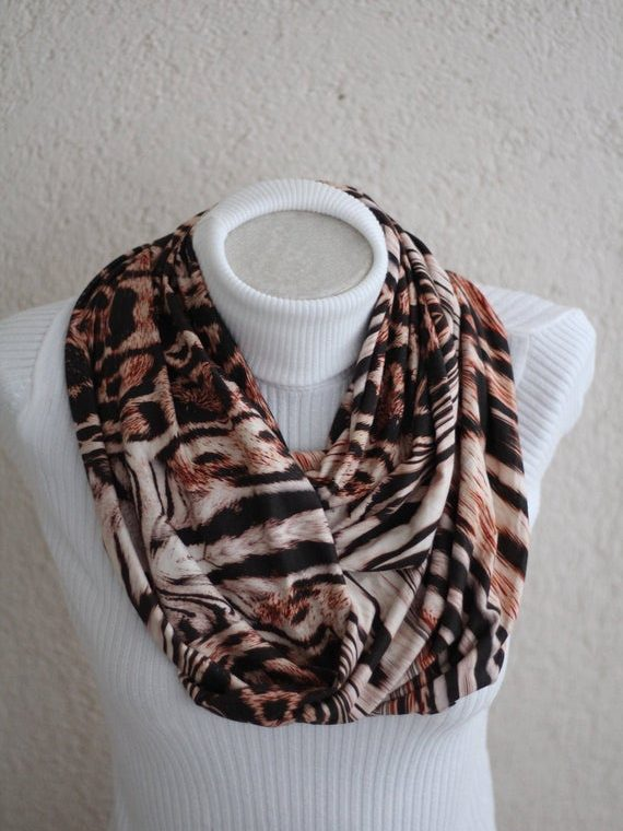 Leopard Scarf Animal Prints Infinity Scarf Jersey Scarf Fall Fashion Women Accessories Gift for Mom Trendy Gifts