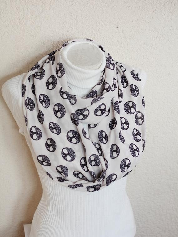 Tree of Life Infinity Scarf Family Tree Sacred Geometry Birthday Gift for Wife Winter Accessories
